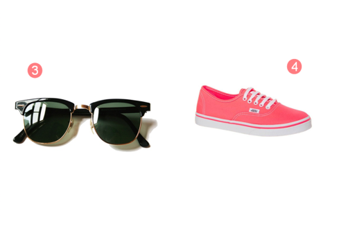 3-4 rayban clubmaster vans rose
